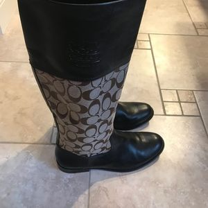 Coach Brown Chrissi Boots, 8.5 M Fit Like 9
